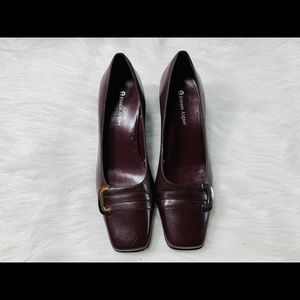 Etienne Aigner E-Mozart Brown Leather Chucky Heel